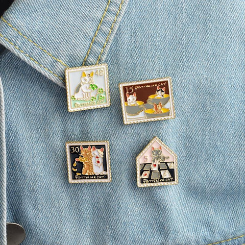 STAMP PINS (SET/4PCS)