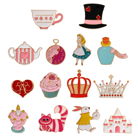 ALICE IN WONDERLAND PINS (SET/14PCS)