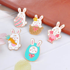 CUTE RABBIT PINS (SET/5PCS)