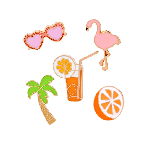 COOL SUMMER PINS (SET/5PCS)