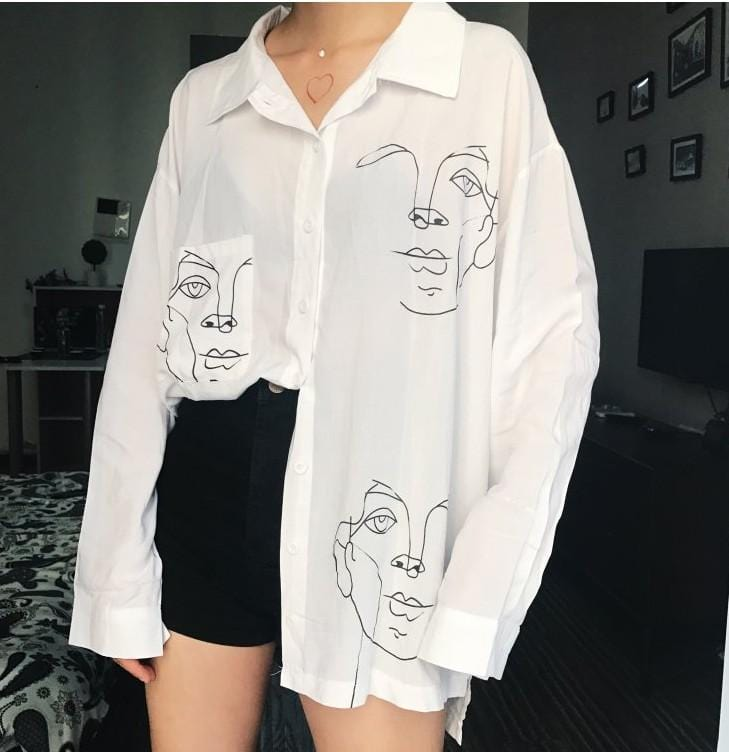 FACE OUTLINED SHIRT