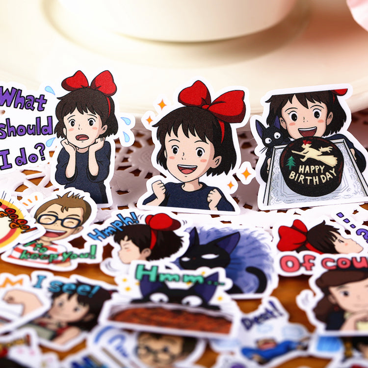 CUTE GIRL DAILY LIFE STICKERS SET (40PCS)