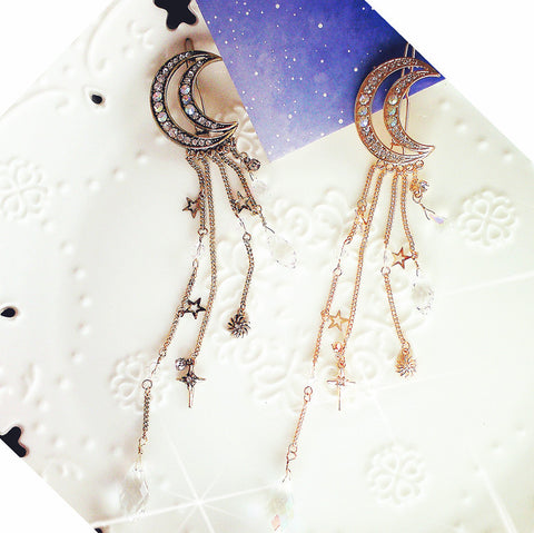 MOON CRYSTAL DROPS HAIR PIN (set)