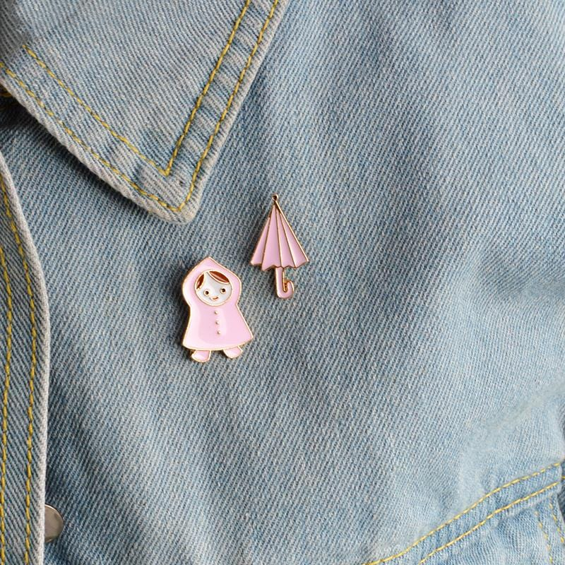 DON'T FORGET YOUR UMBRELLA PINS (SET/2PCS)