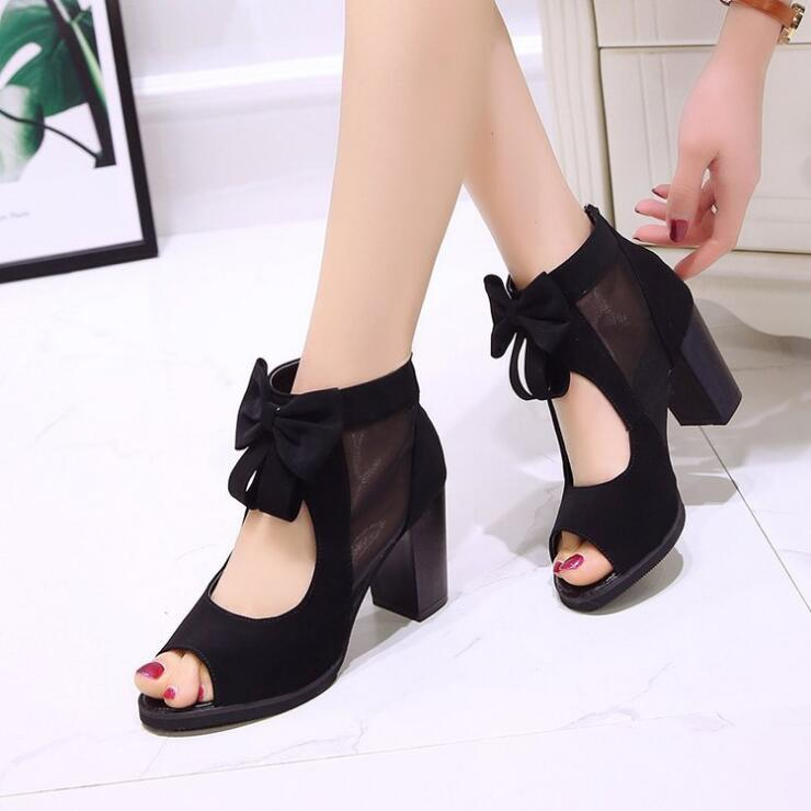 ELEGANT LOLITA BOW HIGH SANDALS (4.5-8.5)