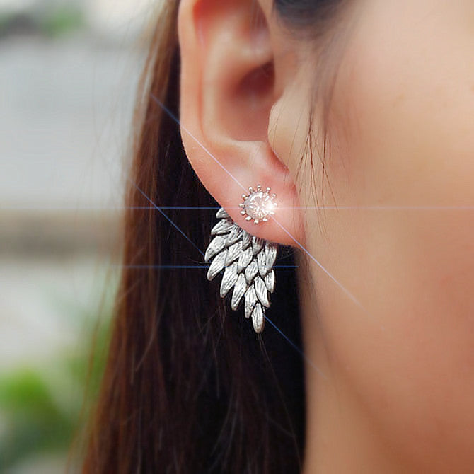 FEATHERY EARRINGS (2pairs)