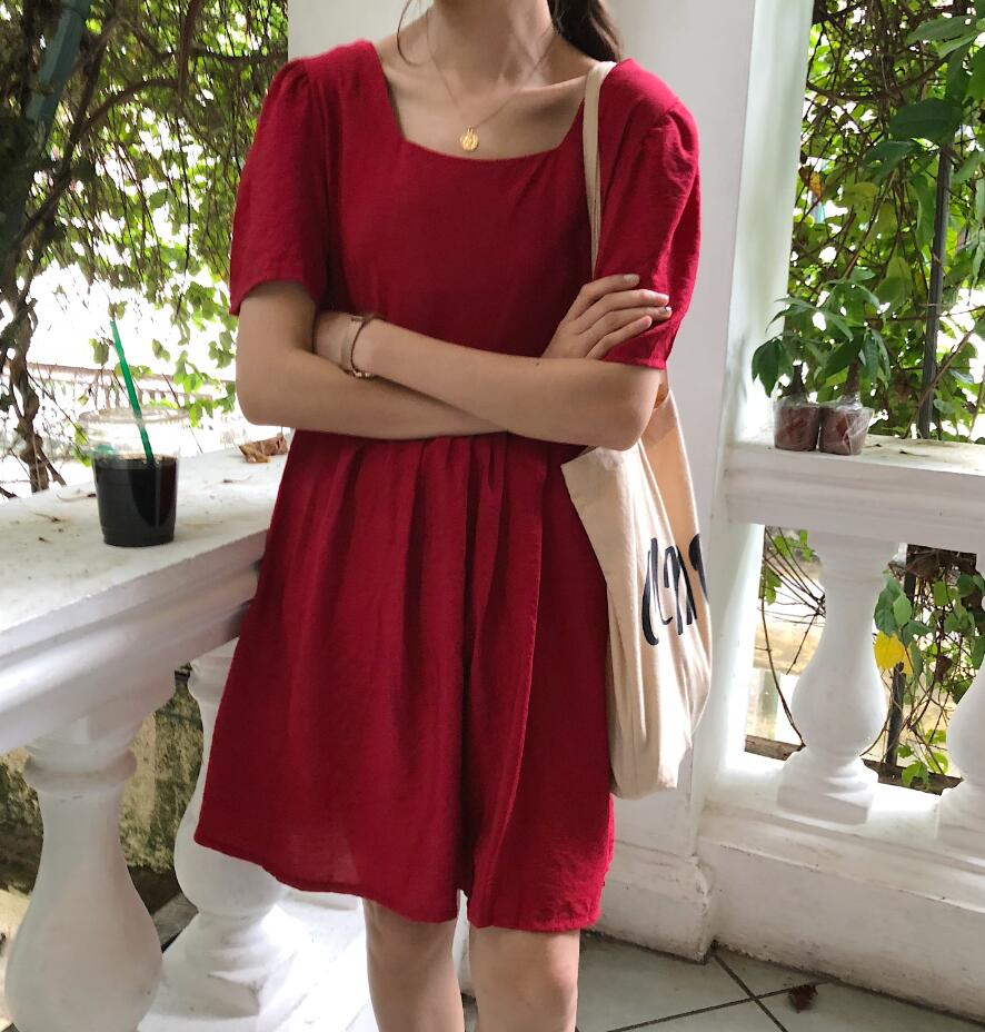 RED NICOLE DRESS