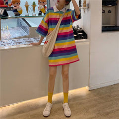 STRIPE RAINBOW DRESS