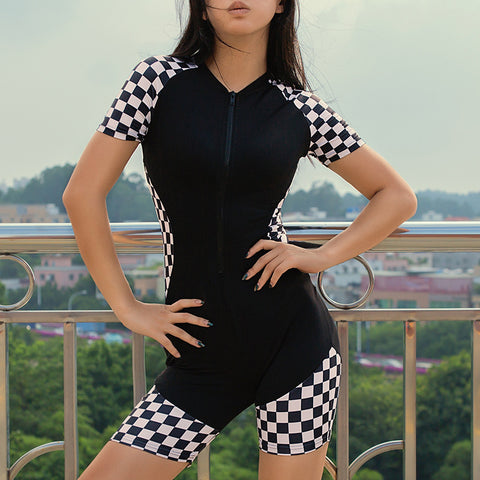 RACER BABE CHECKERBOARD SUIT