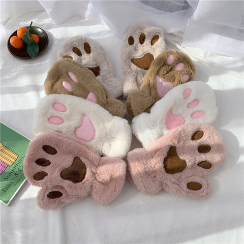 CAT CLAW FINGER PLUSH GLOVES