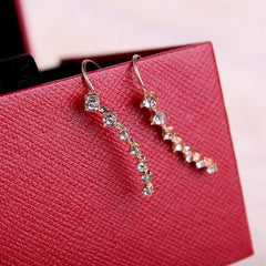 RHINESTONE STAR EARRINGS (2pairs)