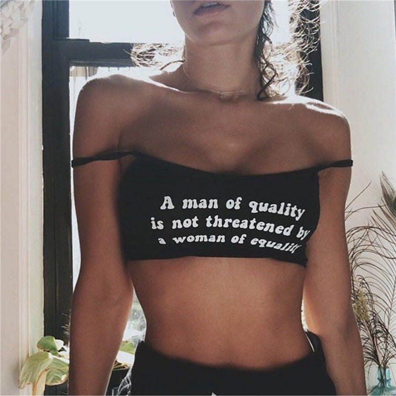 MAN OF QUALITY, WOMEN OF EQUALITY CROP TOP