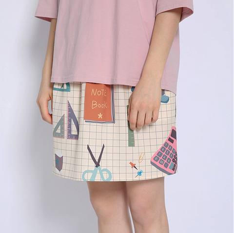CUTE STATIONARY SKIRT