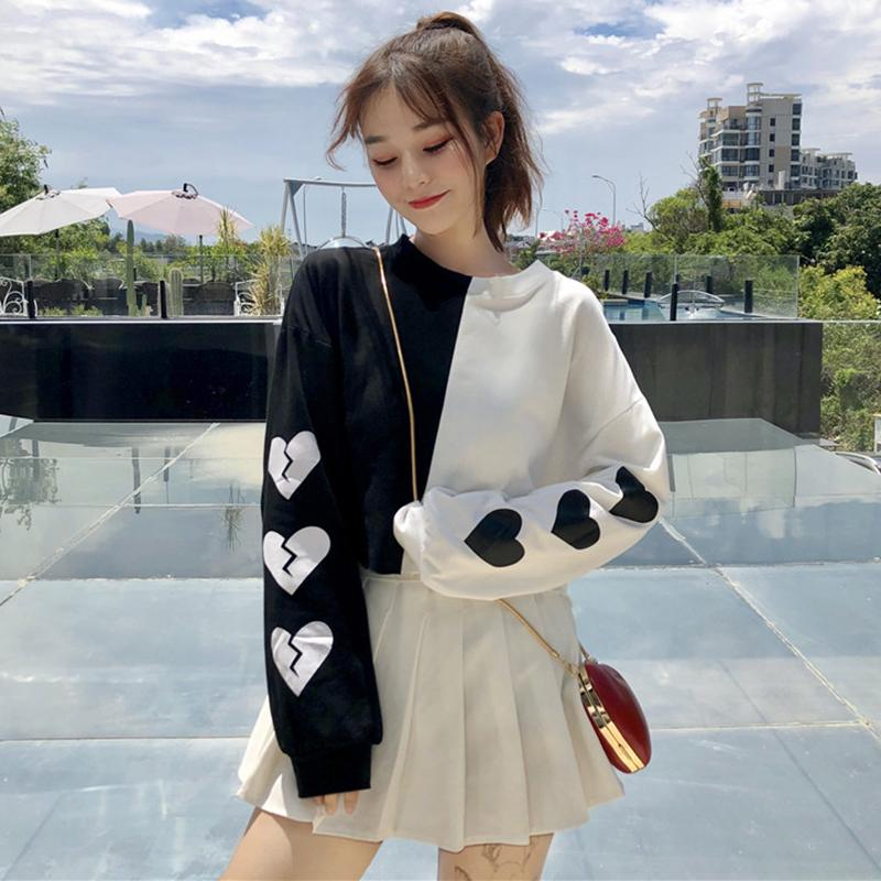 BLOCK SLEEVE HEART TOP