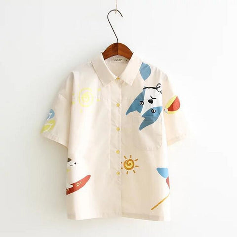 HARAJUKU CARTOON BLOUSE