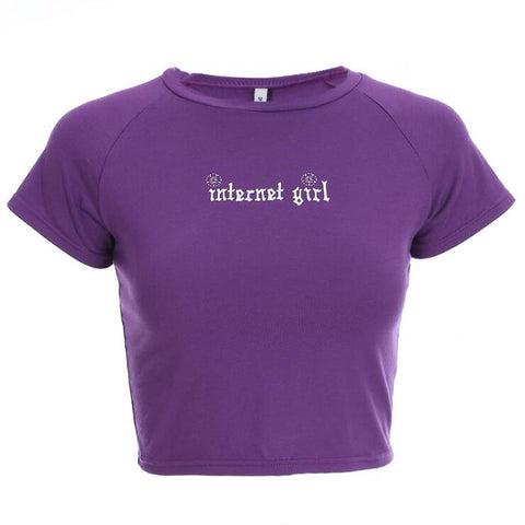 INTERNET GIRL CROP TOP