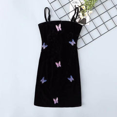 BUTTERFLY EMBROIDERY DRESS