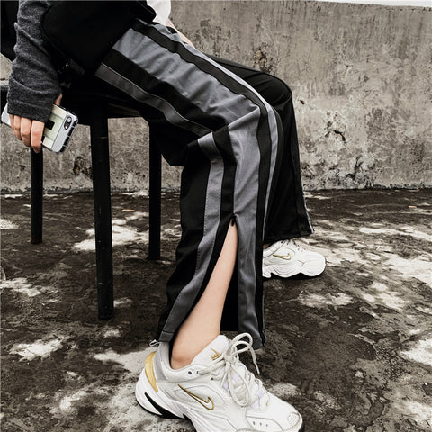 ULZZANG ZIPPER LOOSE CASUAL PANTS