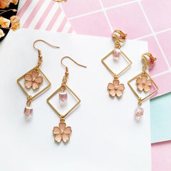 CHERRY SQUARE EARRINGS
