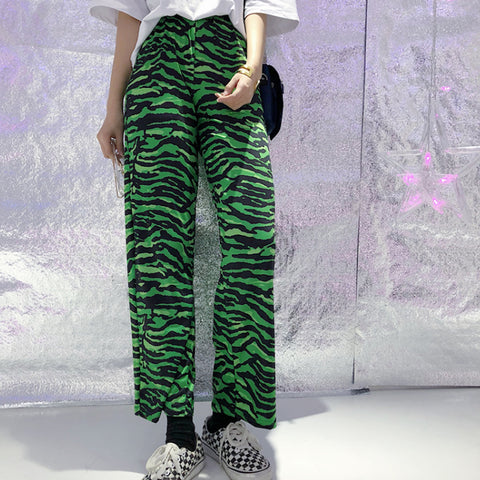 GREEN ZEBRA PANTS