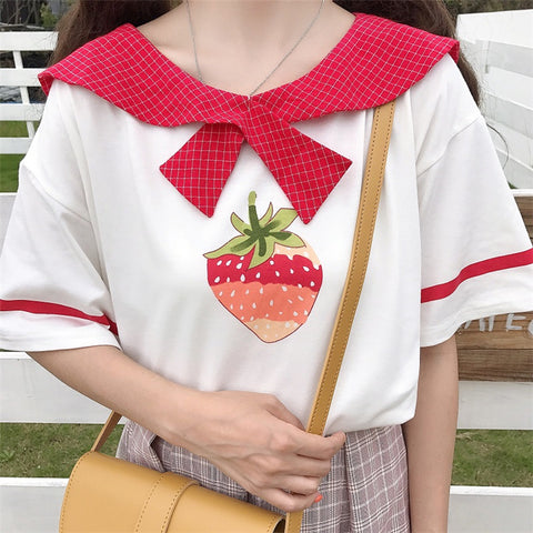 STRAWBERRY DOLL COLLARED SHIRT