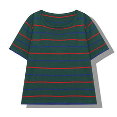 STRIPED KNITTED TEE