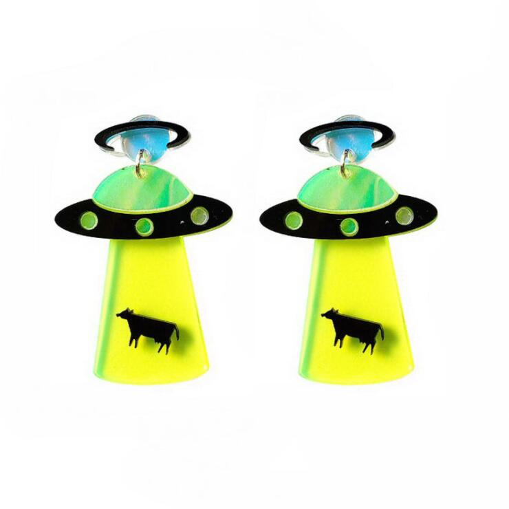UFO SPACESHIP ALIEN EARRINGS