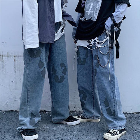RETRO HIP HOP LOOSE JEANS