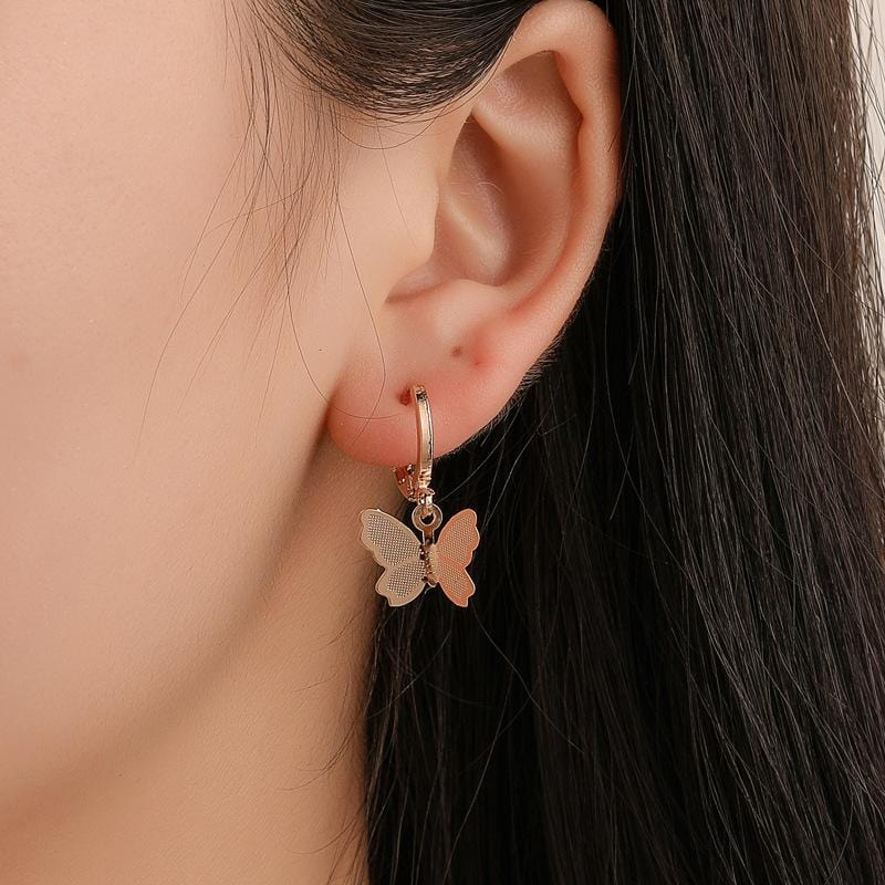 FROSTED BUTTERFLY EARRINGS (2pairs)