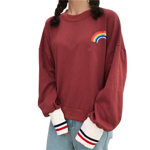 RAINBOW PRINTING SWEATER