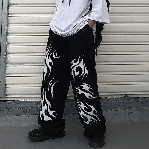 HARAJUKU DARK WIDE LEG PANTS