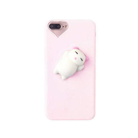 PINK SQUISHY CAT CASE (I6 I6+ I7 I7+)