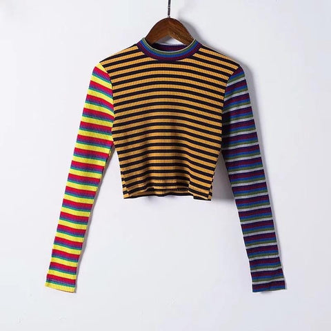 DECONSTRUCTED STRIPED KNITTED