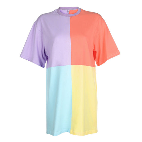 COLOUR PATCHWORK TEE