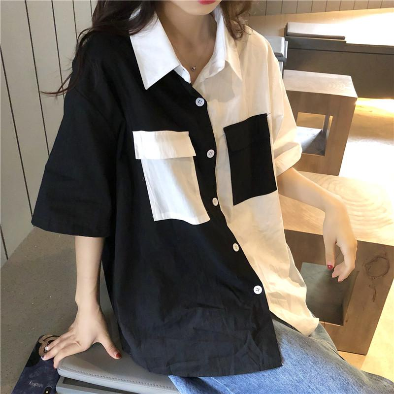 B&W BLOCK SHIRT