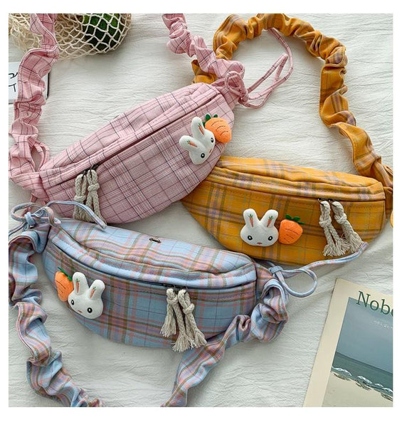 Rabbit Carrot Plaid Bag by Dog Dog