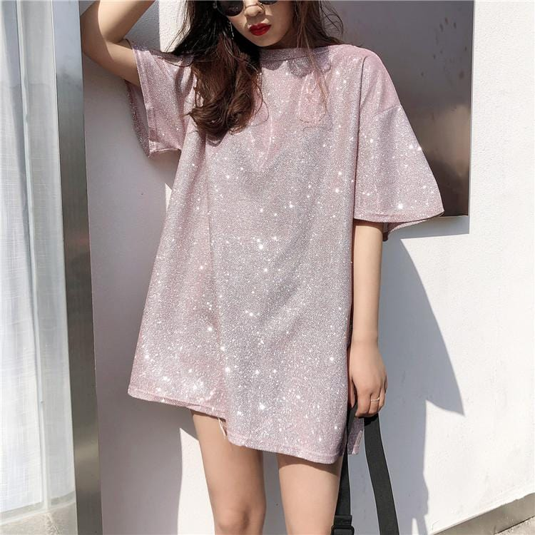 OVERSIZED GLITTERY TOP