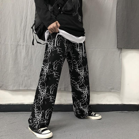 LIGHTNING PRINTED PANTS