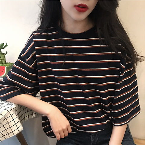 LOOSE STRIPED TEE