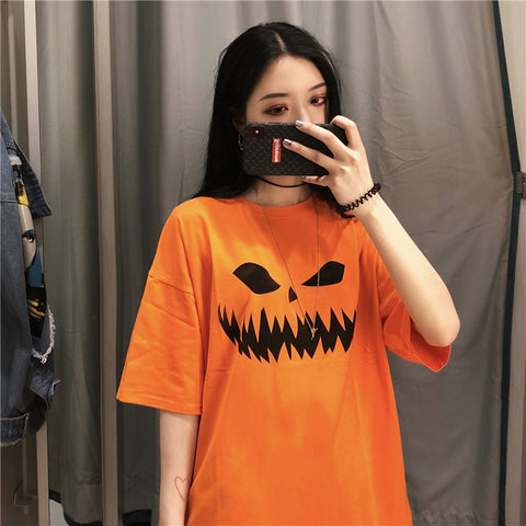 HALLOWEEN SCARY PUMPKIN TOP