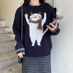 KAWAII CAT KNIT SWEATER