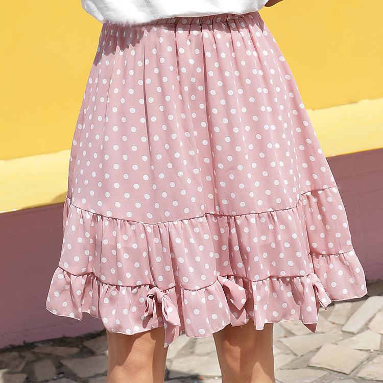 SWEET PINK DOTS SKIRT