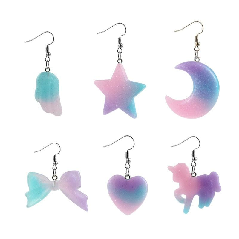 PASTEL EARRINGS (6pairs)
