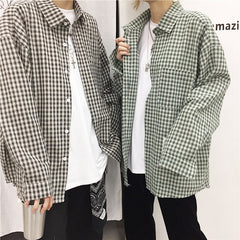 HARAJUKU FINE PLAID LONG SLEEVE SHIRT