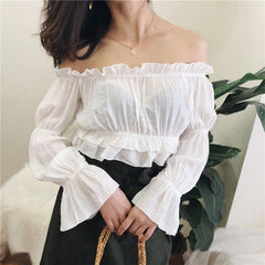 CHIC STRAPLESS BLOUSE