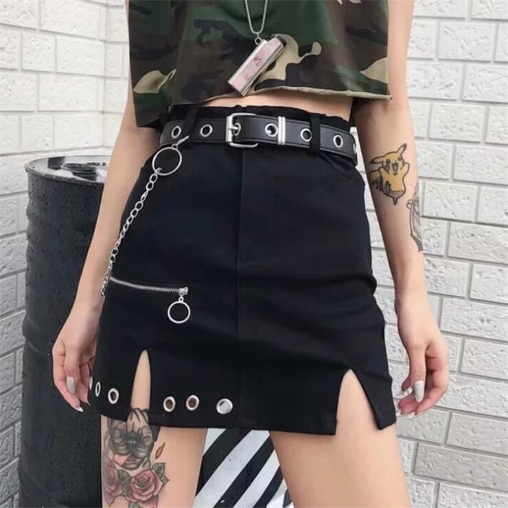 VINTAGE PUNK METAL CHAIN SKIRT