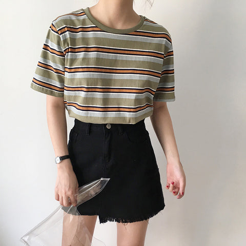 BASIC STRIPED TOPS