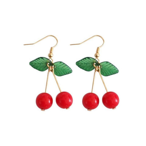 CHERRY EARRINGS (1pairs)