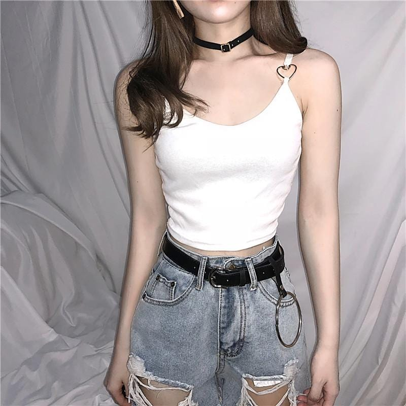 HEART BUCKLED TOP