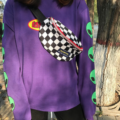 CHECKERBOARD WAIST BAG